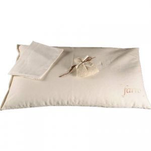 Cuscino per letto adulti in pula di farro 100% bio Lavanda