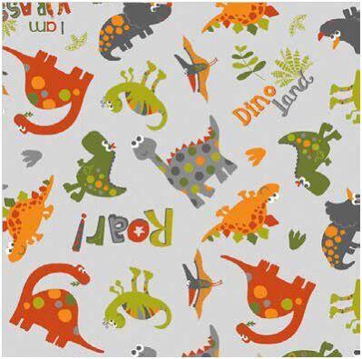 Fodera per cuscini allattamento fantasia dinosauri