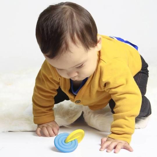 Bioserie Dischi Montessori BluGiallo1