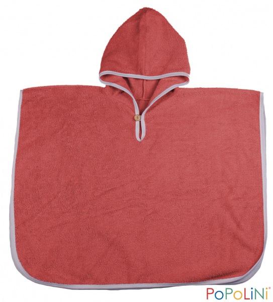 Popolini Poncho rosso mattone