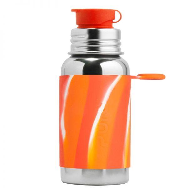 PuraKiki Bottiglia Sport in Acciao ml 550 Arancio Spirale