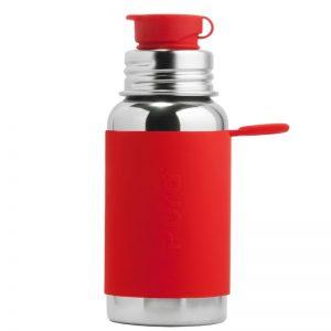 PuraKiki Bottiglia Sport in Acciao ml 550 Rosso