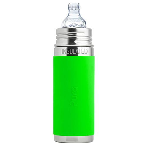 PuraKiki Bottiglia Termica in Acciaio ml 250 - Verde