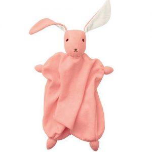 Hoppa coniglio Tino rosa antico bianco
