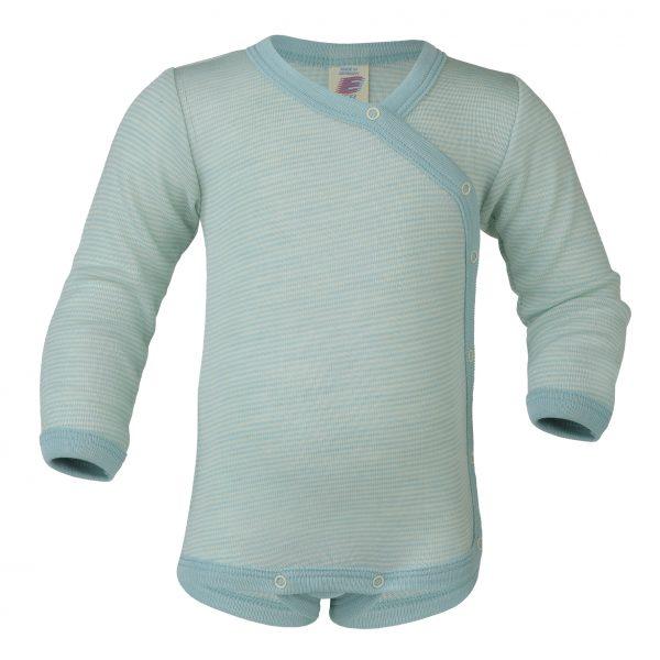 Body in lana e seta Engel mnica lunga incrociato glacer naturel