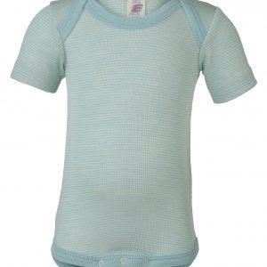 body lana seta engel mezza manica scollo americana glacier natural