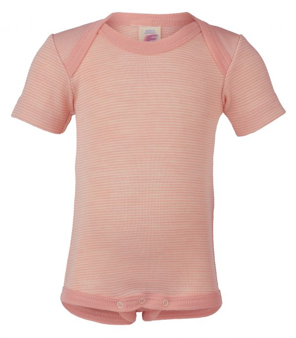 body lana seta engel mezza manica scollo americana salmon natural