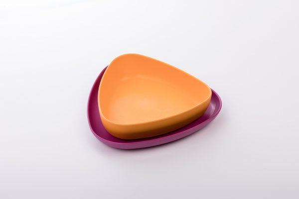 eKoala set piatto fondo e piatto piano eKOLLI'.Arancione