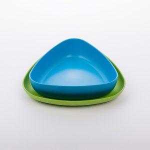 eKoala set piatto fondo e piatto piano eKOLLI'.Blu