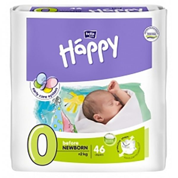 Happy pannolini usa e getta ecologici before Newborn