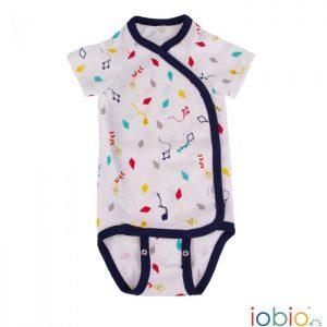 Body cotone IoBio PoPoLiNi incrociato mezza manica - Kites