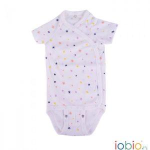 Body cotone IoBio PoPoLiNi incrociato mezza manica - Sparkle