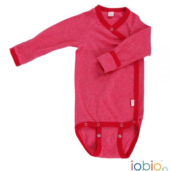 Body cotone IoBio PoPoLiNi manica lunga incrociato - Rosso