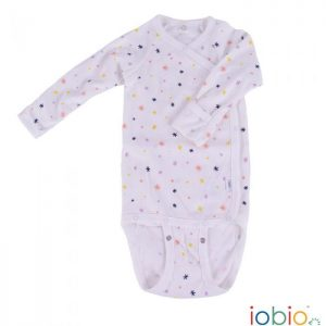 Body cotone IoBio PoPoLiNi manica lunga incrociato - Sparkle