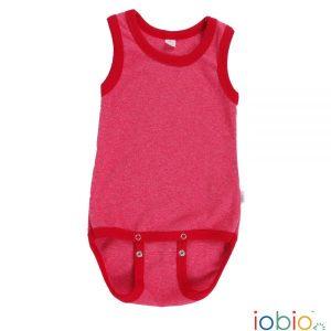 Body cotone IoBio PoPoLiNi senza manica - Rosso