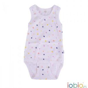 Body cotone IoBio PoPoLiNi senza manica - Sparkle