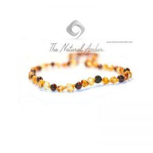Collana d'Ambra per Bimbi multicolor