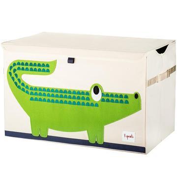 baule porta giochi 3 sprouts coccodrillo