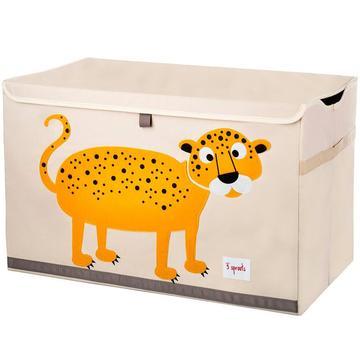 baule porta giochi 3 sprouts leopardo