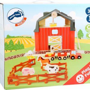 immagine di gioco in legno fattoria