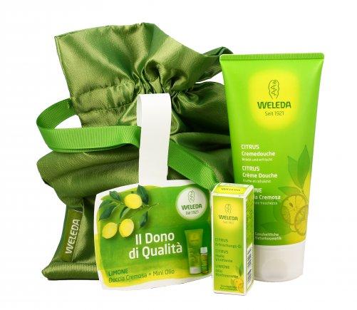 borsa regalo weleda doccia cremosa olio al limone