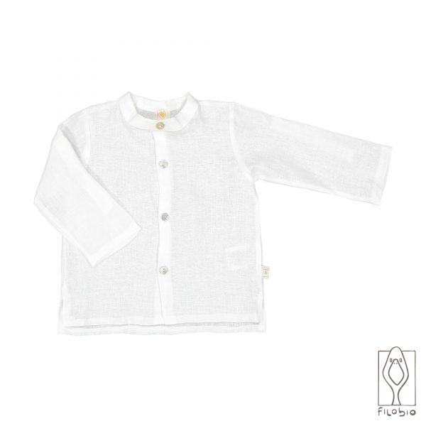 camicia lino filobio bianca